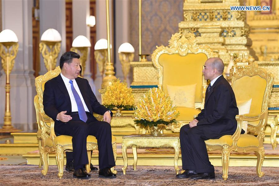 CAMBODIA-CHINA-XI JINPING-KING-MEET