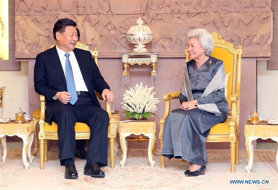 CAMBODIA-CHINA-XI JINPING-QUEEN MOTHER-VISIT