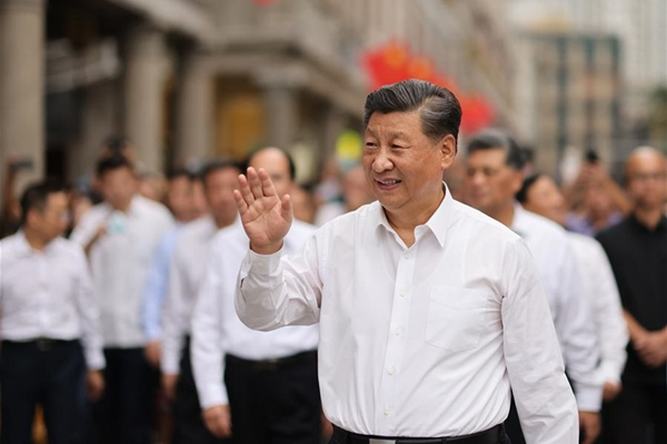 Xi inspects southern Chinese city of Shantou