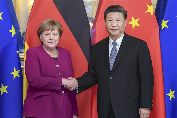 Xi makes 3-point proposal on China-Germany ties in meeting with Merkel
