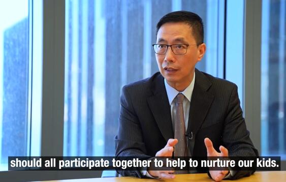 HK Secretary for Education says parents, schools and sociaty should nurture kids together
