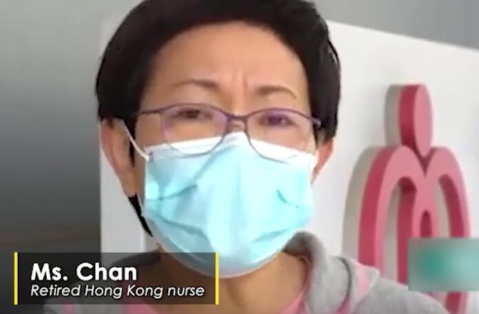Retired nurse fight against COVID-19 in Hong Kong